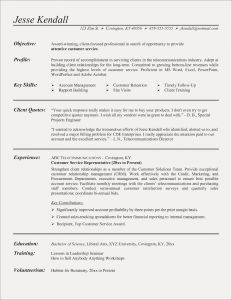 Science Resume Template - Resume Templates for Customer Service Fresh Beautiful Grapher Resume