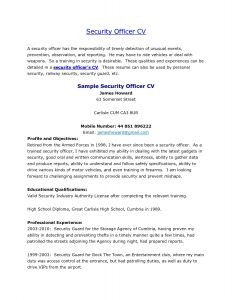 Security Officer Resume Template - Sample Security Ficer Cover Letter New Security Guard Cover Letter