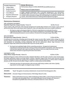 Security Officer Resume Template - Security Officer Resume Sample Security Officer Resume Needs to Be