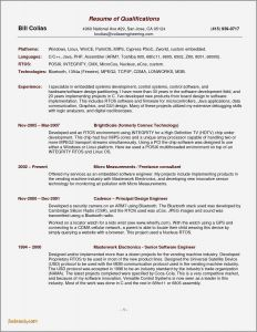 Senior software Engineer Resume Template - Mechanical Engineer Resume Template Fwtrack Fwtrack