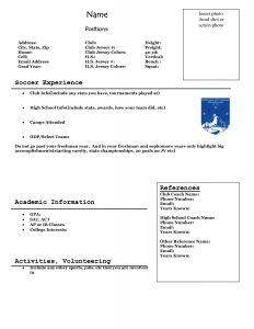 Soccer Player Resume Template - soccer Player Resume Sample Basketball Player Resume Coaching