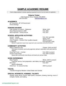 Soccer Resume Template for College - Student Resume Samples Inspirational Unique Resume for Highschool