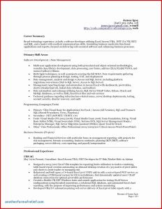 Software Developer Resume Template Word - 30 software Developer Resume Sample
