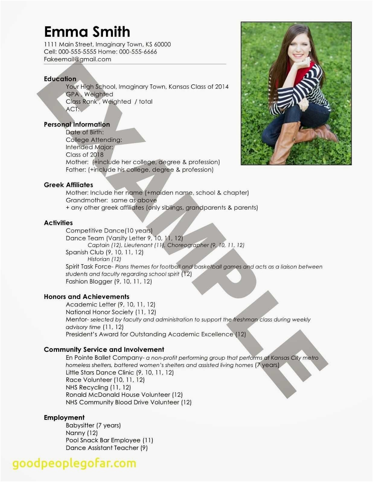 sorority rush resume template Collection-Good Things to Put A Resume New Lovely Entry Level Resume sorority Resume 0d Things 5-f