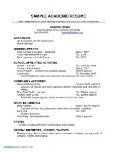Sports Resume Template - Puter Resume Examples Unique Resume for Highschool Students