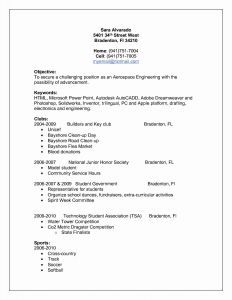 Sports Resume Template - Resume Educational Background format Awesome Lovely Pr Resume