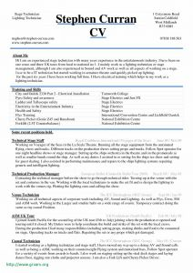 Stage Manager Resume Template - Floor Director Cues élégant Production Manager Resume Fresh Stage