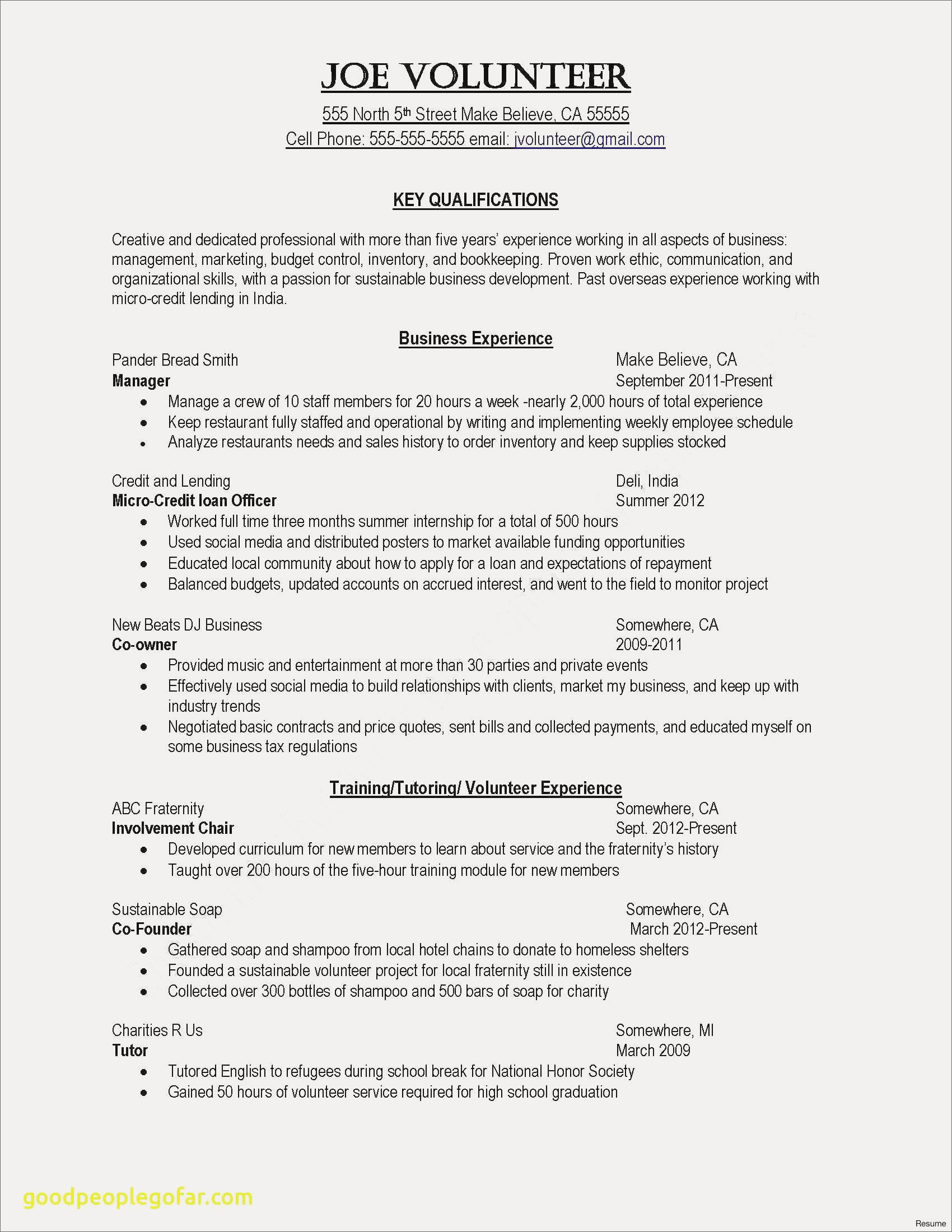 home maker resume august 2020