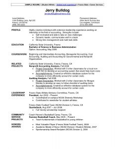 Student athlete Resume Template - Basketball Resume Template for Player Reference Sample athletic