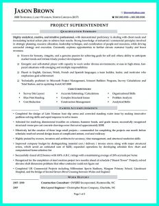 Superintendent Resume Template - Construction Superintendent Resume Can Be In Simple Design but It