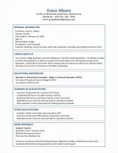 Teachers Resume Template Microsoft Word - Resume Template for Teachers Lovely Inspirational Examples Resumes