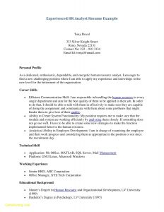 Technical theater Resume Template - 49 New Examples Human Resources Resumes