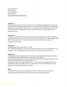 Truck Driver Resume Template - 61 Awesome Truck Driver Resume