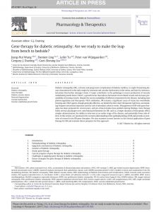 Tsa Leap Resume Template - Pdf Gene therapy for Diabetic Retinopathy are We Ready to Make the