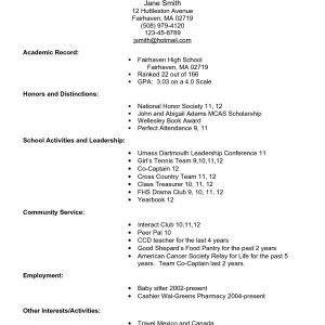 Ub Resume Template - 34 Wonderful High School Resume for College Template T3r
