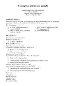 University Of Florida Resume Template - 64 Concepts Sample Nursing Resume