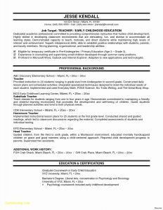 University Resume Template - New Education Resume Template Word