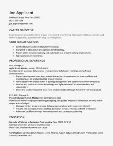 Uw Resume Template - Scrum Master Cover Letter and Resume Examples