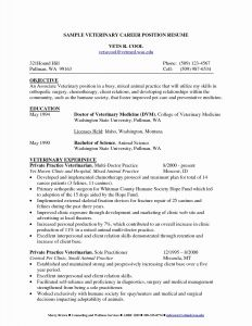 Vet Tech Resume Template - 25 Inspirational Pharmacy Tech Resume Sample