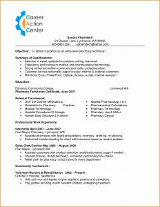 Vet Tech Resume Template - Pharmacy Technician Resume Objective Best Veterinary Technician
