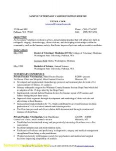 Veterinarian Resume Template - Veterinarian Resume Examples New Beautiful Veterinarian Resume