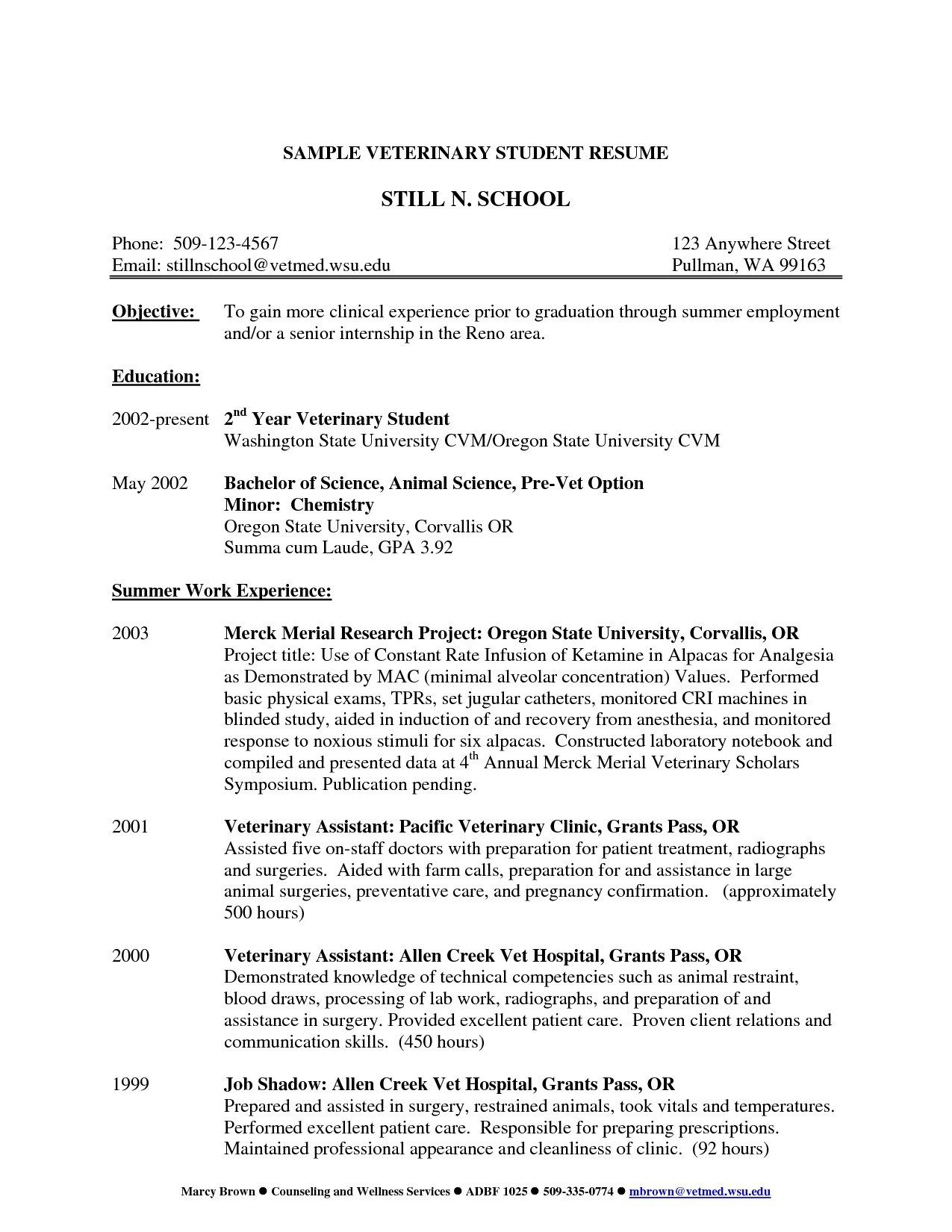 11 veterinary assistant resume template samples