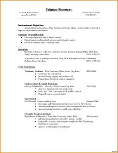 Veterinary assistant Resume Template - Vet Tech Resume Inspirational 23 Best Vet assistant Resume Radio