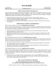Veterinary assistant Resume Template - Electronic Technician Resume Objective Best Resume Template for
