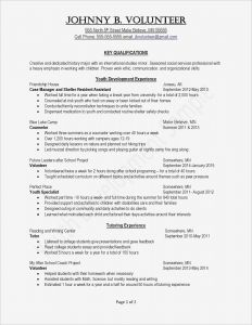 Volunteer Resume Template - Template for A Resume Inspirationa Cfo Resume Template Inspirational