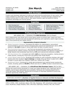 Web Developer Resume Template Doc - Front End Web Developer Resume Experience 2 Year format for