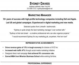 Wharton Resume Template - 19 Marketing Skills Resume