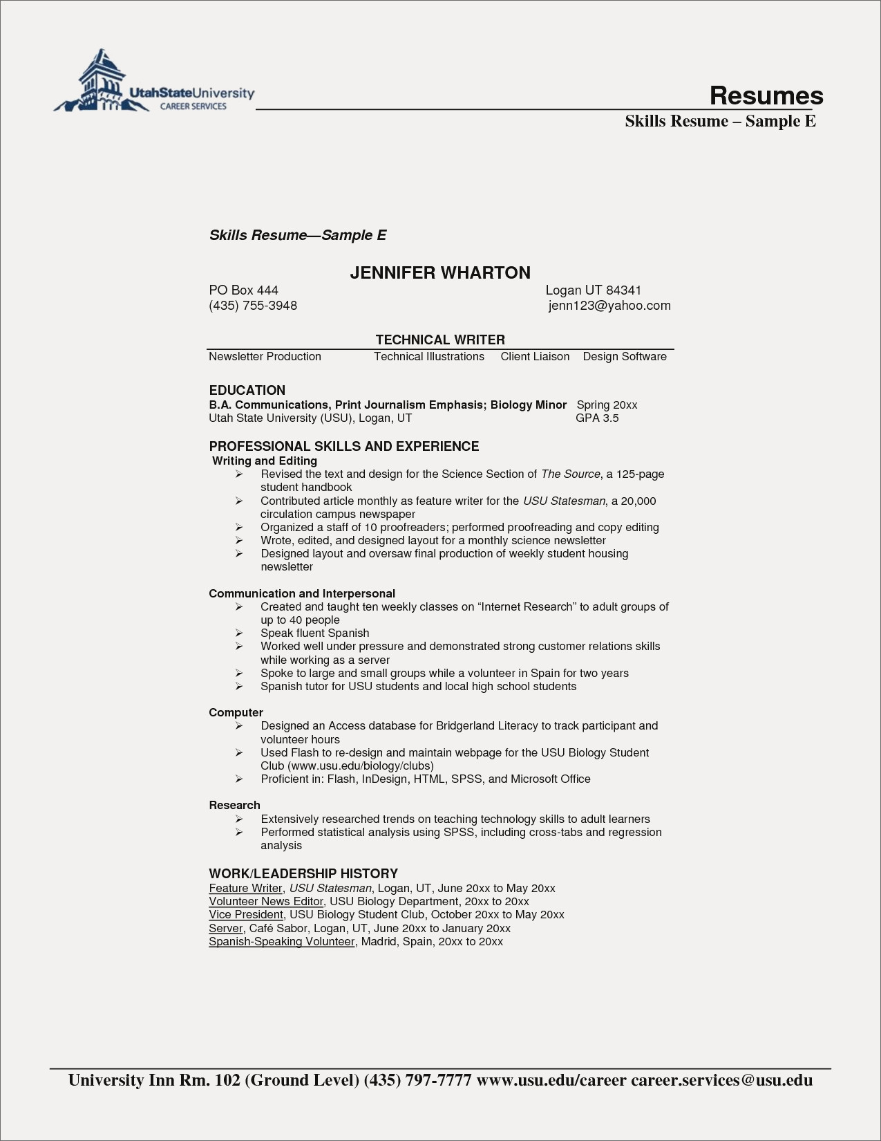 wharton resume template example-Cheap Resumes Fresh Puter Skills Example Unique Examples Resumes Ecologist Resume 0d 12-q