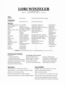 Yoga Resume Template - Musical theatre Resume Template