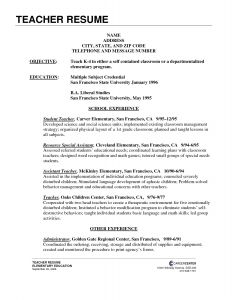 Yoga Teacher Resume Template Little Experience - 57 Best Math Teacher Resume